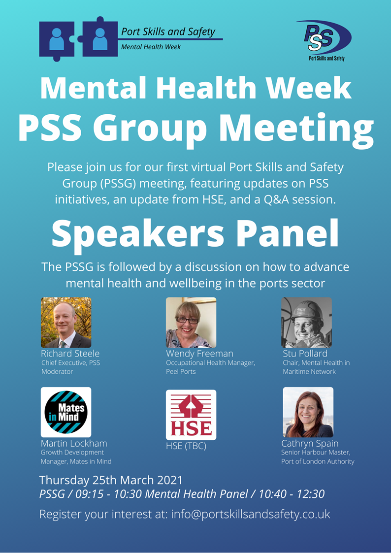 PSSG and Mental Health & Resilience in 2021 Webinar - 25 March 2021